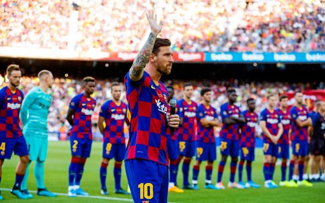 Messi, FC Barcelona Trofeu Gamper - foto: @fcbarcelona - FB