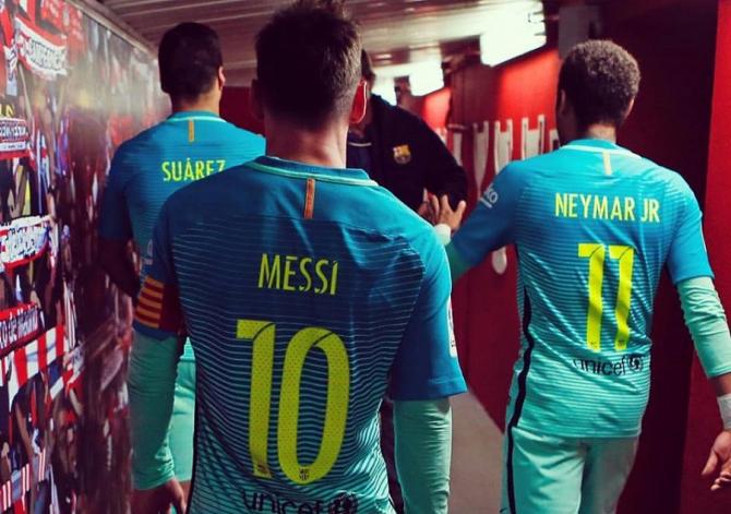 Messi, Neymar și Suarez. foto: @fcbarcelona - FB