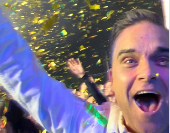 Robbie Williams la Untold 2019. Foto: Instagram Robbie Williams