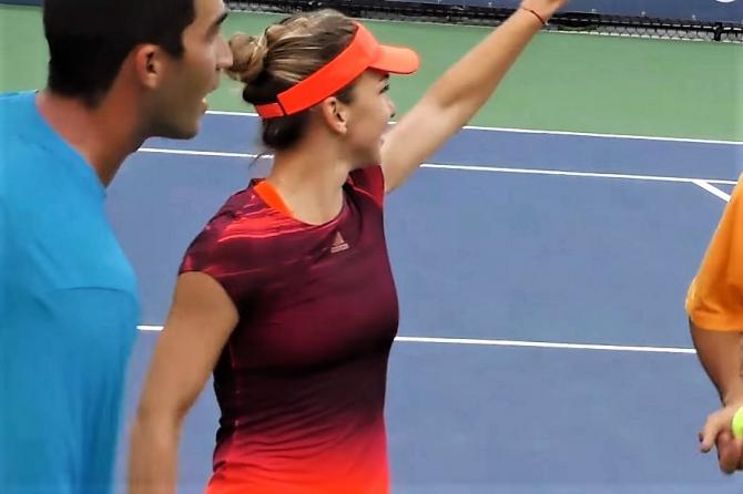 US OPEN 2019 - Simona Halep și Horia Tecău la dublu mixt