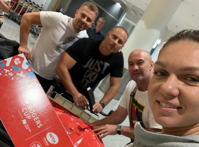 Simona Halep team - Rogers Cup 2019. foto: @Simona_Halep - Twitter