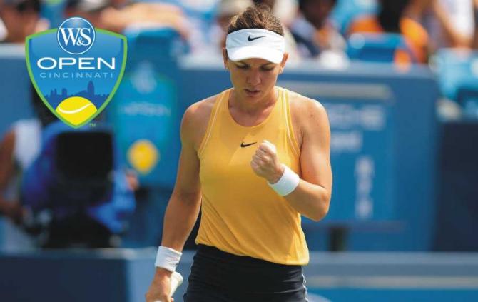 Simona Halep, Cincinnati. foto: @WTA - Twitter
