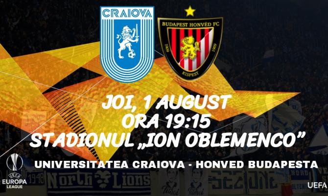Universitatea Craiova - Honved Budapesta rezultat meci retur, Europa League