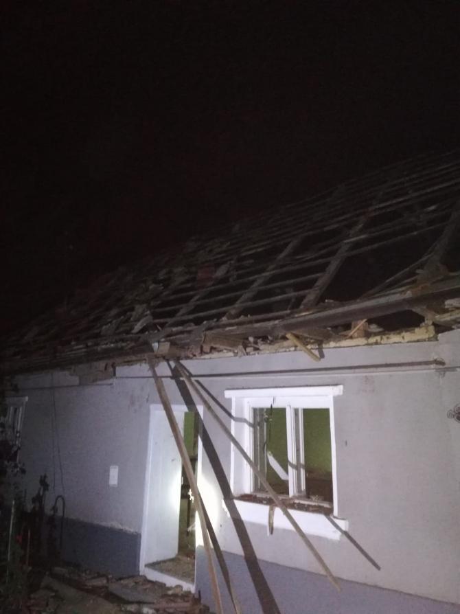 Incendiu / Explozie casă. Foto: ISU Alba