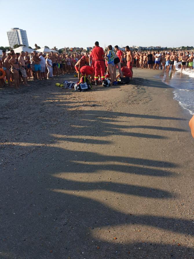 Persoane înecate pe litoral. FOTO: Salvamari Eforie