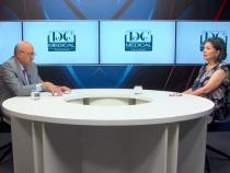 Acad.dr. Irinel Popescu și dr Crina Ștefănescu, la Academia de Sănătate. Foto: DC News