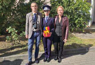 Agentul de poliţie Adriana Bodiș, cea mai mare medie de absolvire din istoria Școlii de Poliție Cluj