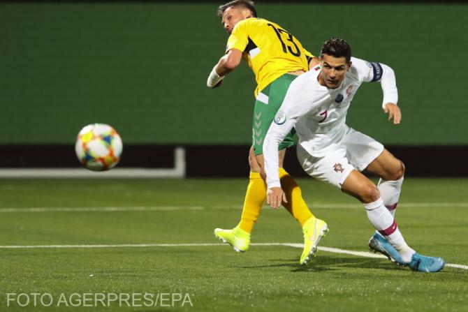 Cristiano Ronaldo, patru goluri pentru naţionala Portugaliei