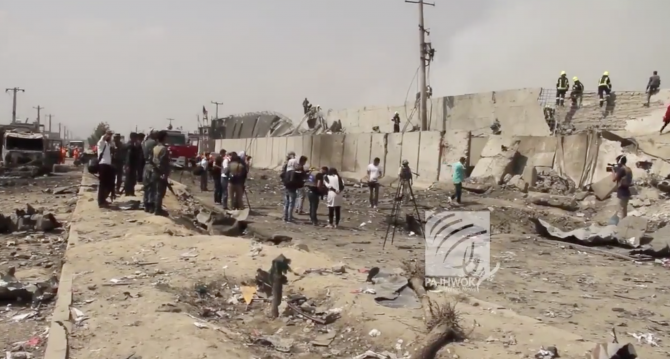 Captură video Pajhwok Afghan News, atac asupra Ambasadei României în Afganistan