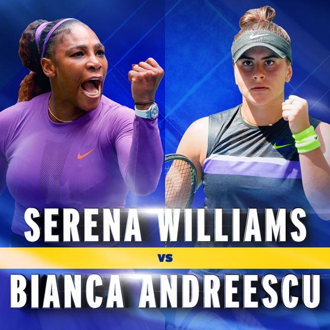 Finala US OPEN 2019: Bianca Andreescu vs Serena Williams. foto: @usopentennis - FB