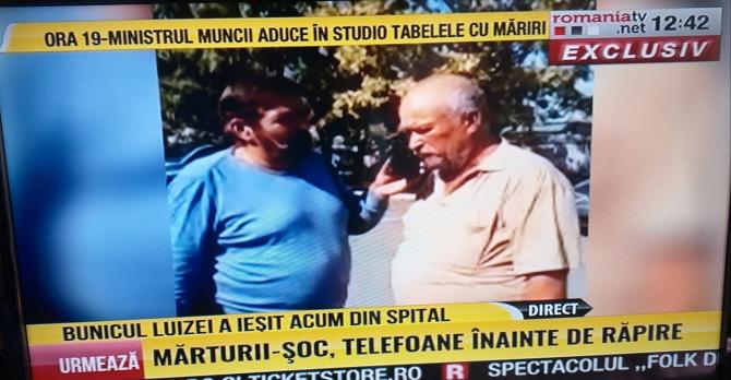 Bunicul Luizei a ieșit din spital - Captură România TV
