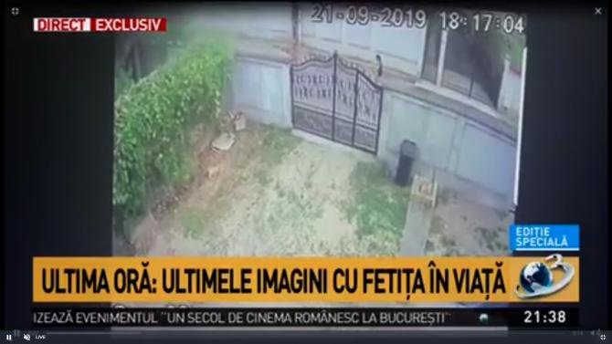 Imagini cu fetița ucisă din Dâmbovița