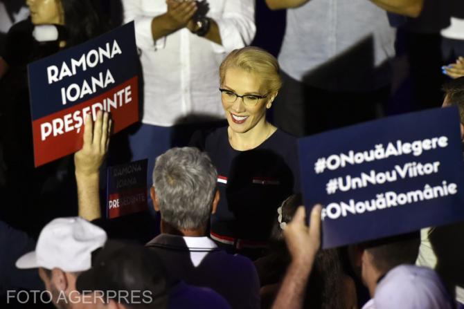 Ramona Ioana Bruynseels, candidatul umaniștilor la prezidențiale FOTO: Agerpres