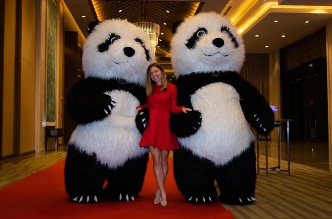 Simona Halep la turneul de la Wuhan. foto: @simonahalep - FB