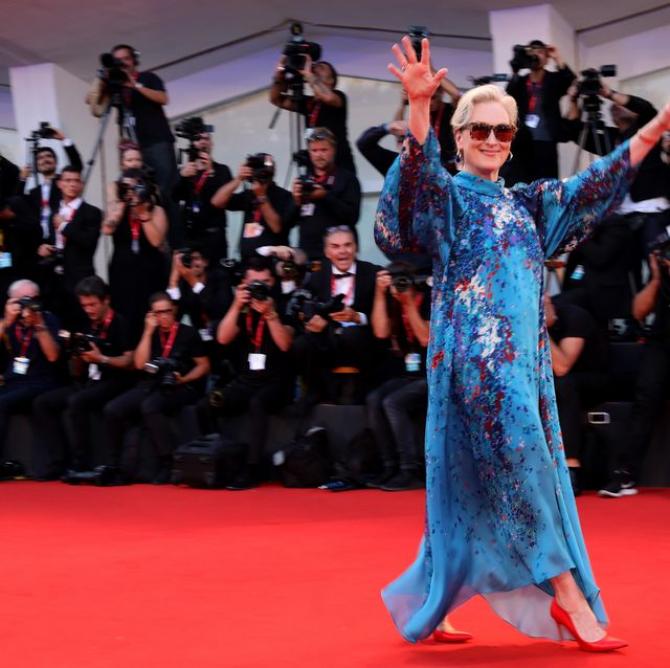 Meryl Streep pe covorul roșu