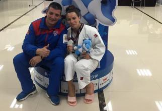Andreea Chiţu, argint pentru România la judo. foto: @CSASTEAUA - FB