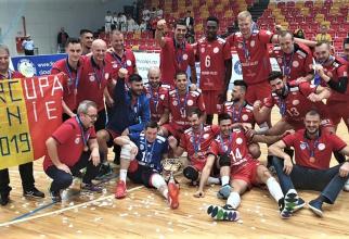 Arcada Galaţi - Dinamo Bucureşti rezultat în Supercupa României la volei masculin. foto: @ArcadaGalati - FB