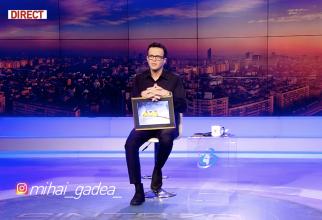 Mihai Gâdea în platoul Antena 3