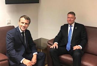 Emmanuel Macron și Klaus Iohannis