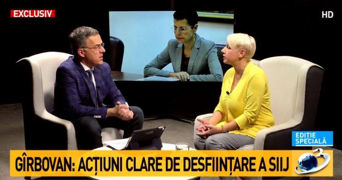 Răzvan Dumitrescu - Interviu cu Dana Gîrbovan - captură Foto: Antena 3
