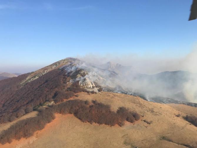 Incendiu de pădure. Foto: ISU Caraș Severin