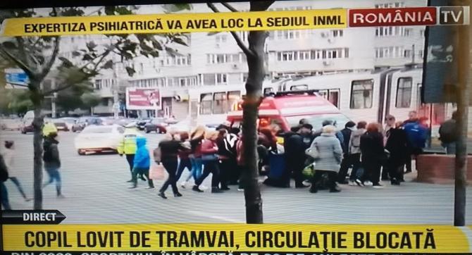 Copil lovit de tramvai Captură FOTO România TV