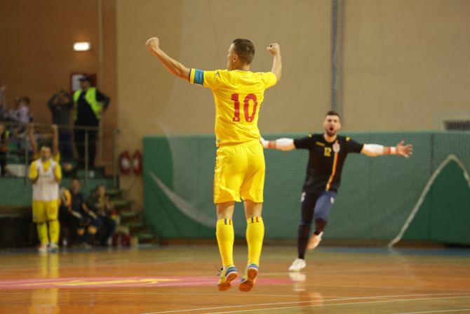 România - Olanda, rezultat în preliminariile CM 2020 futsal. foto: @futsalromania - FB