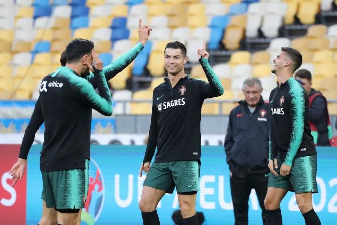 Ronaldo, record de goluri. foto: @PORTUGAL - FB