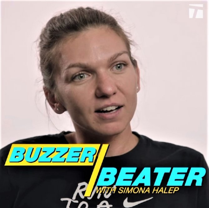 Simona Halep la Buzzer Beater