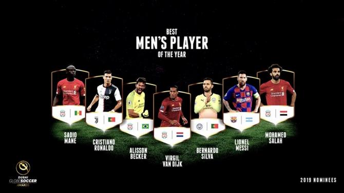 Globe Soccer Awards - Candidaţii la câştigarea trofeului de cel mai bun fotbalist al lumii.foto: @globesoccer - FB