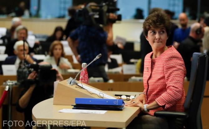 Sylvie Goulard, în Parlamentul European. Sursă foto: Agerpres