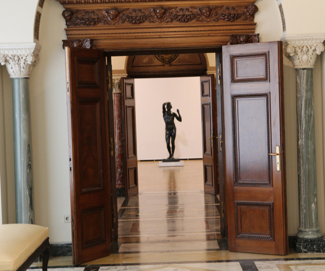 To the hall where the masterpiece is located  Photo: Crișan Andreescu, with the kind permission of NMAR