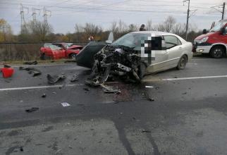 Accident grav. Foto: ISU Arad