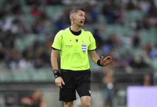Daniele Orsato, arbitrul meciului Romania - Suedia. foto: uefa.cio via FRF