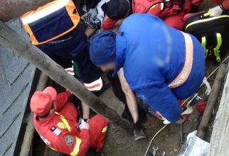Tânăr prins sub balast, resuscitat de medici. FOTO: ISU Dâmbovița