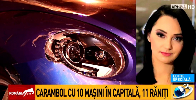 Accident, captură Antena 3
