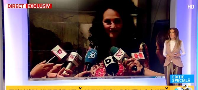 Alina Bica, foto captură Antena 3