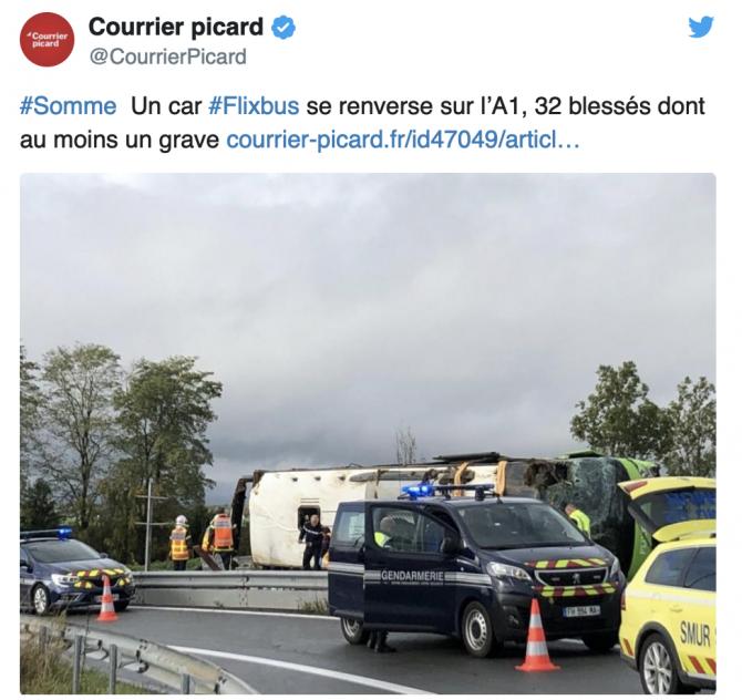 Accident Franța Twitter