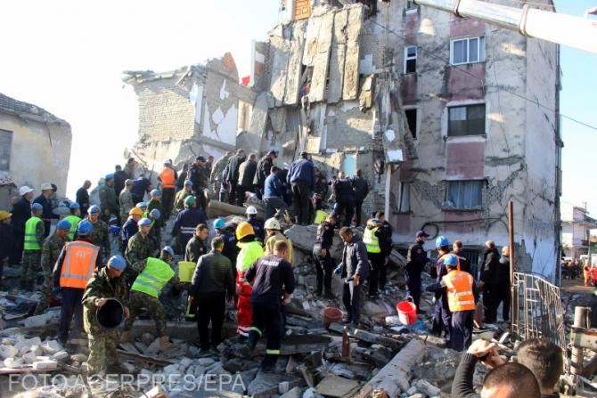 Cutremur în Albania. Foto: Agerpres