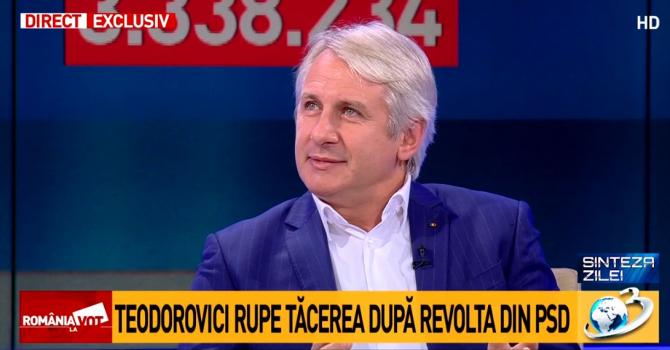 Eugen Teodorovici în platoul Antena 3