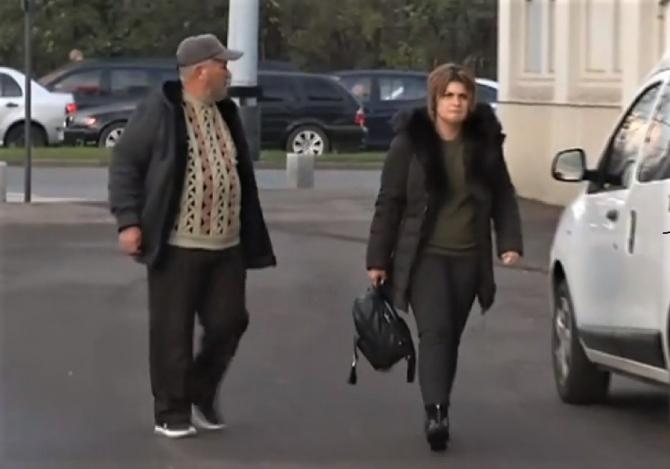 Bunicul și Mama Luizei Melencu, la Cotroceni