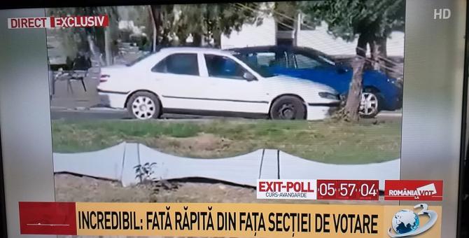 Fată răpită din fața secției de votare