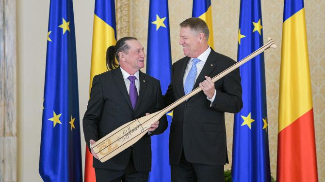 Klaus Iohannis și Ivan Patzaichin