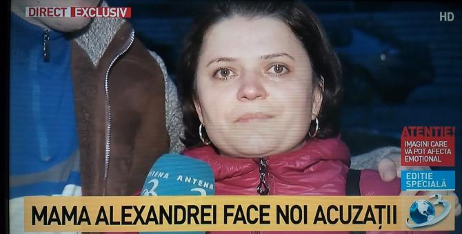 Mama Alexandrei Măceșanu, în lacrimi, la Antena 3