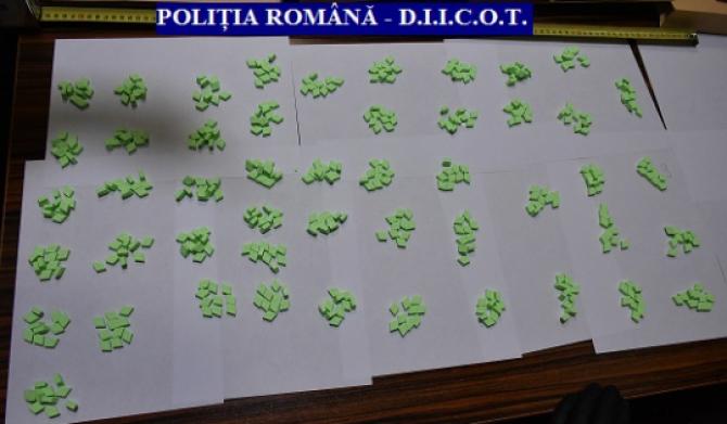 Pastile ecstasy. Foto: Poliția Română