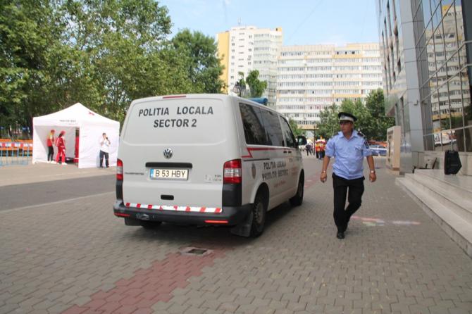 Sectorul 2, mai milți polițiști pe stradă. Foto: Facebook Poliția Locală
