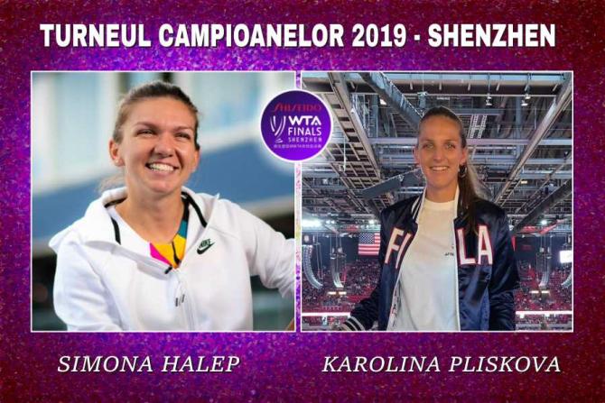 Simona Halep - Karolina Pliskova   Rezultat Turneul Campioanelor. Meciul decisiv al Grupei Mov