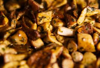 Ciuperci cu usturoi și ceapă