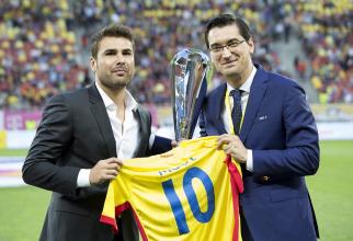 Adi Mutu și Răzvan Burleanu. foto: FRF