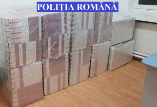 Contrabandă cu țigări. Foto: Poliția Română